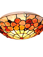 12 inch Retro Tiffany Ceiling Lamp /Shell Shade Flush Mount Living Room Dining Room light Fixture