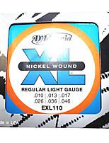 Dario. EXL110. Electric Guitar Strings. 6, 010-046 of String String