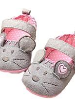 Zapatos de bebé-Planos-Exterior-Vellón-Gris