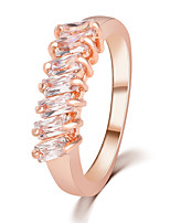 Import Zircon Crystal Simple Tail Ring Jewelry Female Creativity Ring