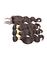 Brazilian Virgin Hair With Closure Brazilian Hair Weave Bundles With Closure Brazilian Body Wave With Closure