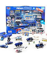 Dibang -69 Children slide alloy car toy car model simulation and traffic police set (2 setsPCS)