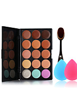 15 Colors Concealer Palette The Makeup Toothbrush And Small Size Makeup Sponges