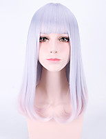 Grey Mixed Color Afro Women Cosplay Synthetic Wigs Glueless Fashion Wigs