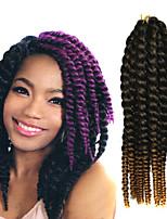 12-24 inch Crochet Braid Havana Mambo Afro Twist Hair Extension Black to Blonde with Crochet Hook