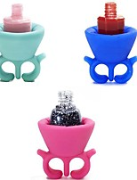1pcs  Wearable Nail Polish Bottle Holder Rings Fit All Fingers Random Colors