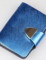 Women-Professioanl Use-Cowhide-Card & ID Holder-Purple / Blue / Gold / Red / Silver / Black / Fuchsia / Almond