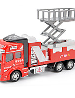 Dibang - Children's toy car fire truck 1:48 back to force alloy car model educational toys lifts (3PCS)