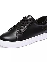 Women's Shoes PU Platform Comfort Fashion Sneakers Outdoor / Work & Duty / Athletic / Casual Black / White
