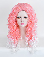 Capless Long Wave Multi-color Cosplay Synthetic Wig