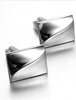 Men's Fashion Simple Silver Alloy French Shirt Cufflinks (1-Pair)
