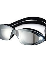Unisex Swimming Goggles Black / Blue Adjustable Size / Anti-slip Strap PC PU