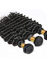 dell'onda profonda vergine peruviana fasci capelli 3pcs estensioni di trama molto peruviano riccio tessuto dei capelli umani 7a grado