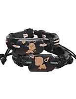 The New Fashion Lovers Weave Leather Bracelet / Ceramic / Nylon / Party / Daily / Casual / Sports