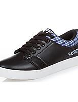 Черный / Коричневый / Белый-Мужской-На каждый день-Ткань / Полиуретан-На плоской подошве-Удобная обувь-Кеды