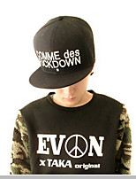 Unisex Cotton Letter Embroidery Printing Black Hip-hop Baseball Flat Cap