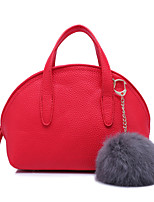 Women-Formal / Event/Party-Cowhide-Tote-Red / Gray / Black