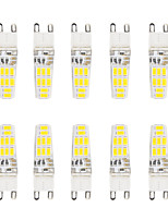 5W G9 LED à Double Broches T 16 SMD 5730 300 lm Blanc Chaud / Blanc Froid Etanches AC 100-240 V 10 pièces