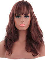 Women's Fashionable Fuxia Color Long Length Top Quality Synthetic Wigs