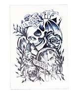 8PCS Temporary Skull Poker Time Women Fake Health Body Art Tattoo Waterproof Flower Arm Sleeve Tattoo Sticker