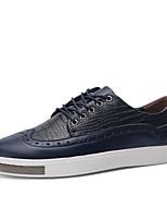 Men's Shoes Casual PU Fashion Sneakers Black / Blue / Burgundy