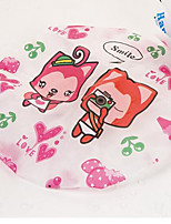Cute Household Super Cartoon Waterproof Shower Caps Women Bath Spa Caps Elastic Hats(Random Color)