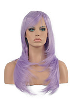 70 Cm Harajuku Anime Colorful Cosplay Wigs Young Long Curly Synthetic Hair Wig New Purple Synthetic Wigs