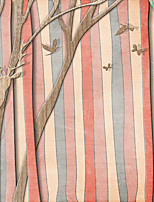 JAMMORY  Trees/Leaves Wallpaper Country Wall Covering,Canvas Large Mural Trunk Birds
