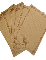 Vintage Lace kraft paper letter set (a set of 8 pieces of random pattern)