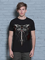 2016 Men's Summer Short-sleeve T-shirt Brand 3D Sword Printed Tops Tees Cool Cotton T Shirt