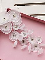 Capacete Flores Casamento / Ocasião Especial / Ao ar Livre Strass / Tule Mulheres Casamento / Ocasião Especial / Ao ar Livre 1 Peça