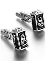 Men's Fashion Silver Alloy French Shirt Cufflinks (1-Pair)