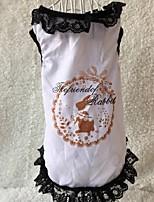Chien T-shirt Blanc Hiver / Eté / Printemps/Automne Classique / Animal Mariage / Noël / Saint-Valentin / Mode-Lovoyager, Dog Clothes /