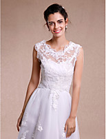 Women's Wrap Shrugs Sleeveless Lace White Wedding / Party/Evening Lace