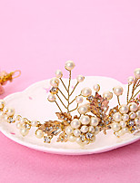 Mujer Diamantes Sintéticos / Latón / Aleación / Perla Artificial Celada-Boda / Ocasión especial / Al Aire Libre Bandas de cabeza 1 Pieza