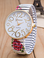 Women's European Style Fashion Colorful Flower Printing Stretch Watches