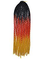 20 inch Kanekalon Senegalese Braids Crochet Soft Dreadlock Braiding Hair Ombre Color with Crochet Hook
