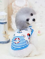 Dog Shirt / T-Shirt Red / Blue Dog Clothes Summer Cartoon Cute / Casual/Daily