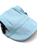 Dog Bandanas & Hats Light Blue Winter / Summer / Spring/Fall Solid Fashion-Lovoyager