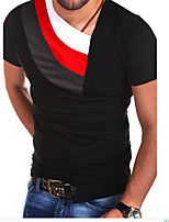 Casual T Shirt Men Black Red White Patchwork Short Sleeve Tennis Clothes Cotton Brand Clothing Summer Tee Shirt