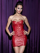 Sottobusto / Completo / Vestiti con corsetto / Completini con corsetto / Taglia forte Donna Laccetti Nylon / Poliestere / PU (Poliuretano)