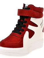Women's Shoes PU Platform Comfort Fashion Sneakers Outdoor / Work & Duty / Athletic / Casual Black / Red