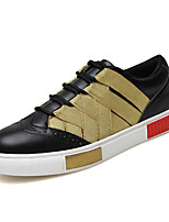 Men's Shoes Outdoor / Office & Career / Casual Leather / Twill Fashion Sneakers Black / White