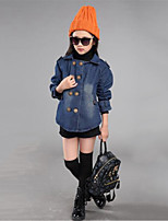 Girl's Casual/Daily Solid Jeans / Suit & Blazer,Cotton Spring / Fall Blue