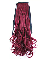 Red Length 50CM Factory Direct Sale Bind Type Curl Horsetail Hair Ponytail(Color 118C)