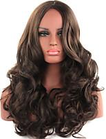 mode brun couleur longue longueur de qualité supérieure synthétiques perruques de femmes