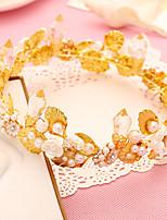Parel / Kristallen / Licht Metaal Vrouwen Helm Bruiloft / Speciale gelegenheden Tiara's Bruiloft / Speciale gelegenheden 1 Stuk