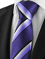KissTies Men's Striped Microfiber Tie Necktie Formal Wedding Party Holiday With Gift Box (2 Colors Available)