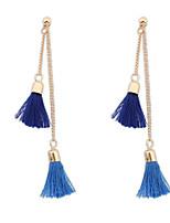 Small Metal Chain Tassel Retro  Drop Earrings Wedding