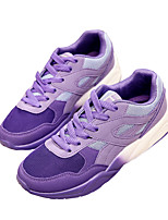 Women's Shoes PU Flat Heel Comfort Fashion Sneakers Outdoor / Athletic / Casual Black / Pink / Purple
